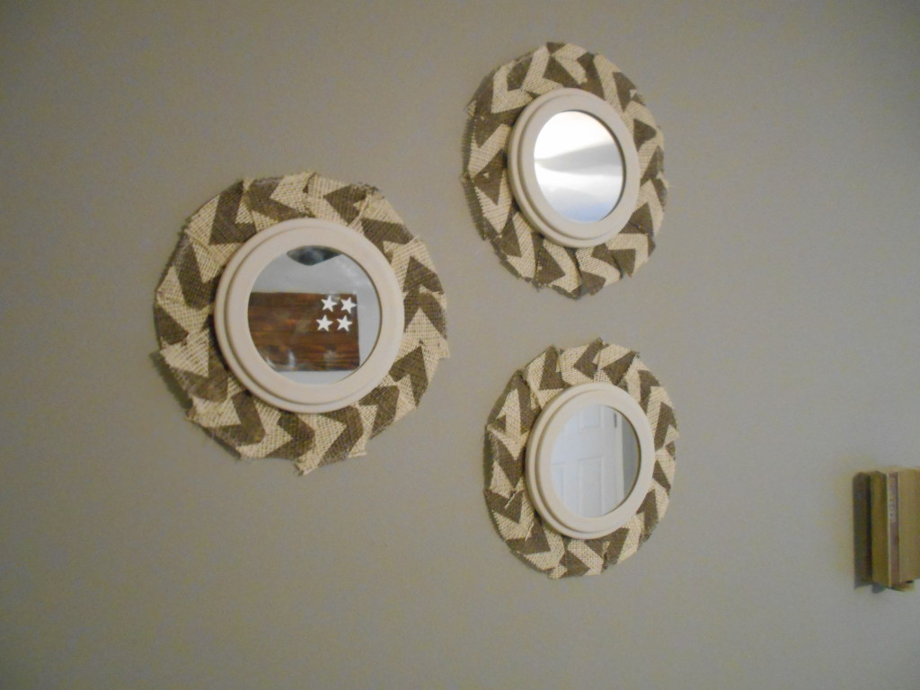 Chevron Burlap Mirrors!