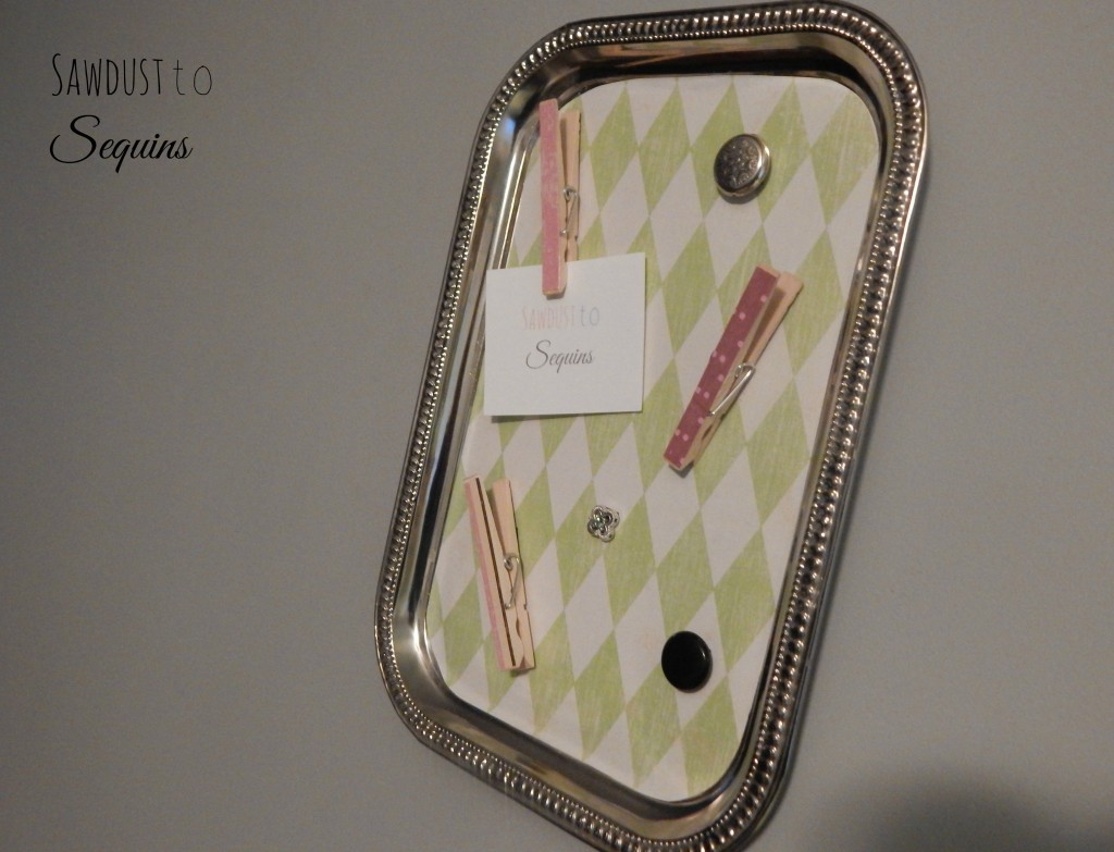 Magnet Board with Mod Podge Clothes Pins