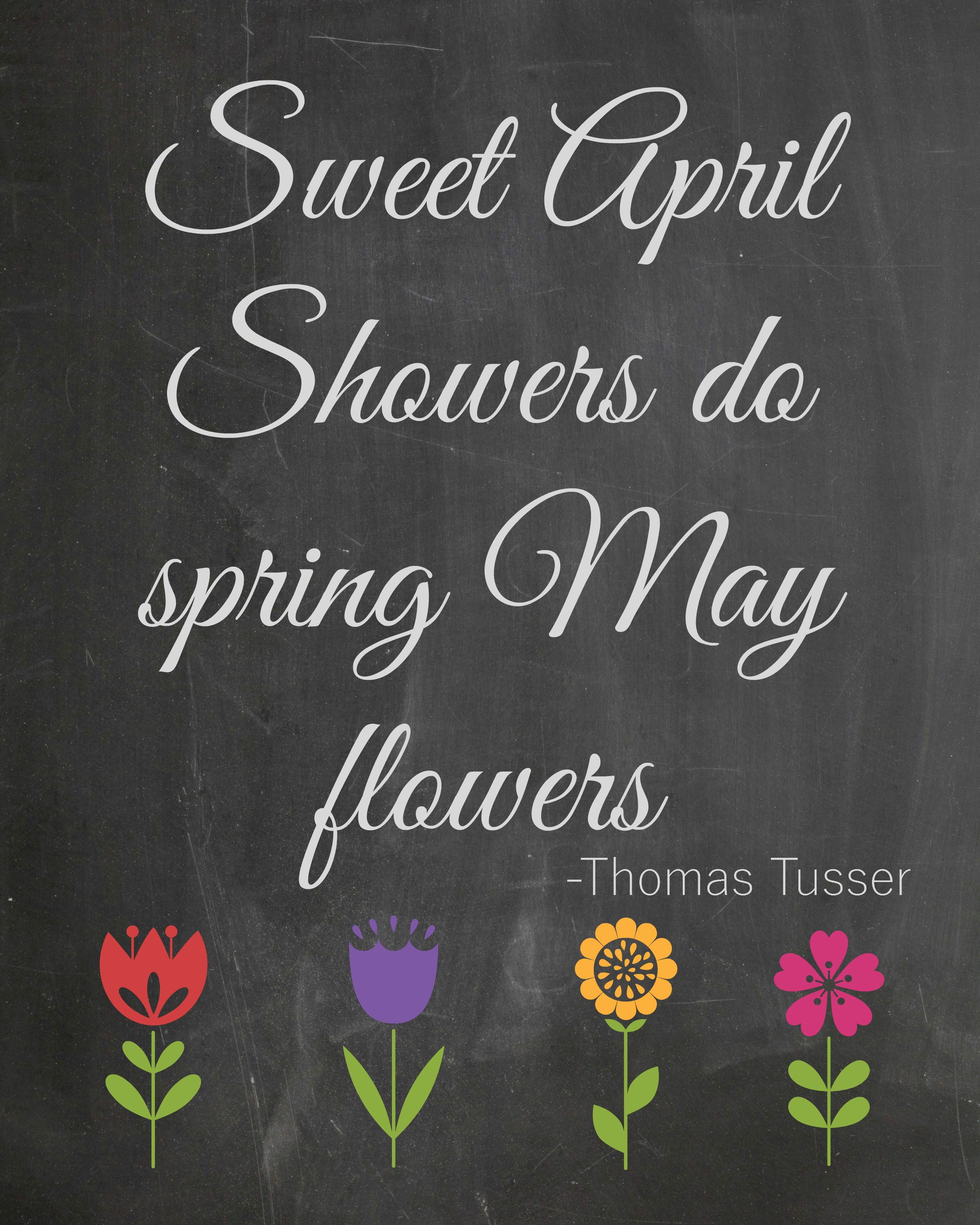 Sweet April Showers