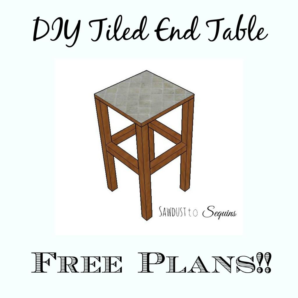 DIY Tiled End Table Plans