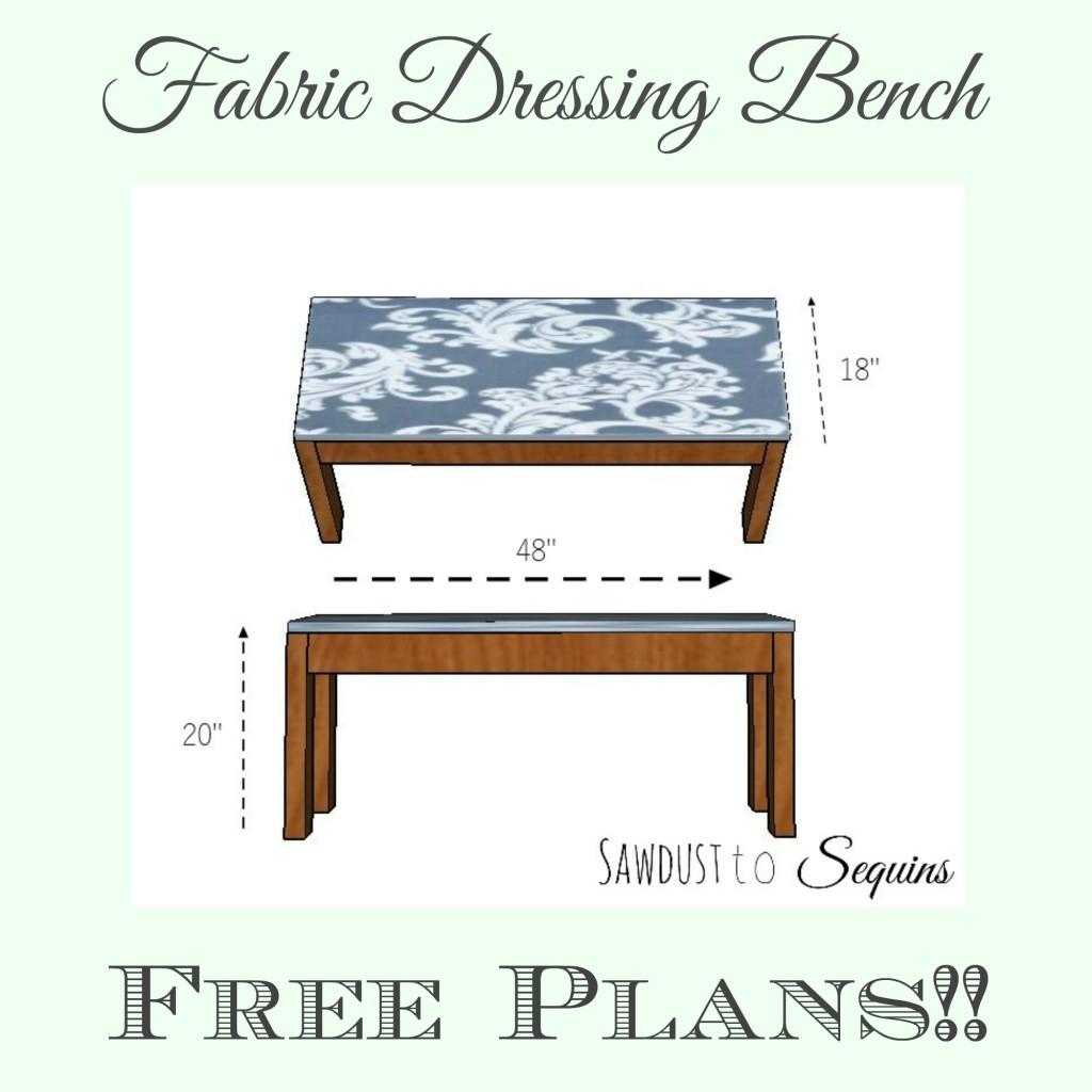 Fabric Dressing Bench Plans