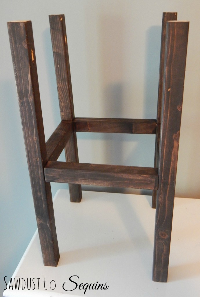 Tiled End Table Stained Base