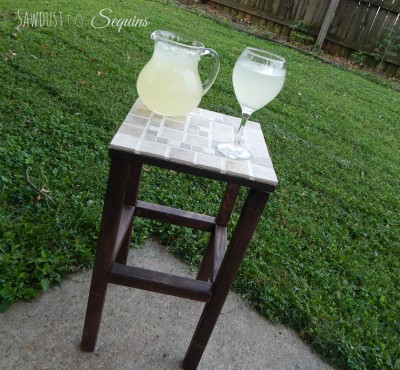 DIY Tiled End Table