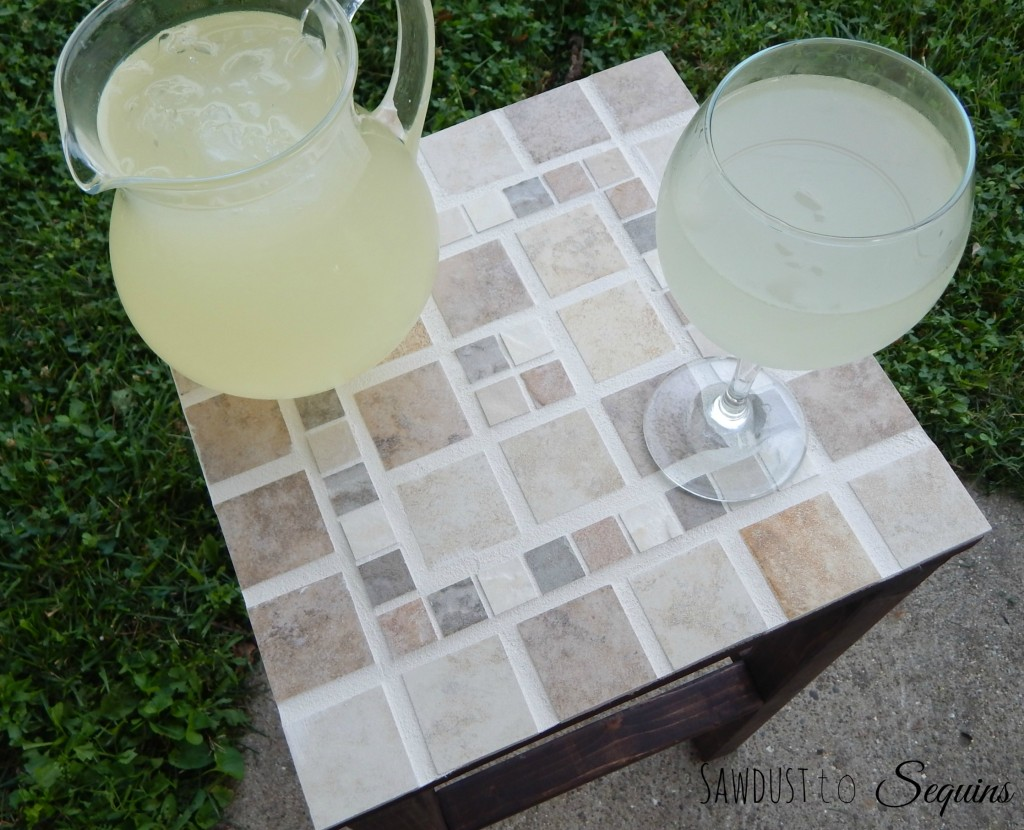 Tiled End Table 2