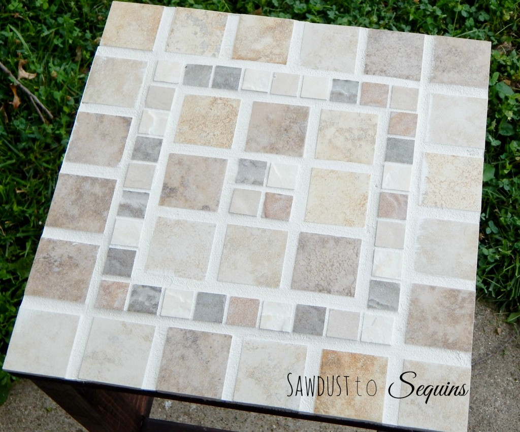 Tiled End Table 3