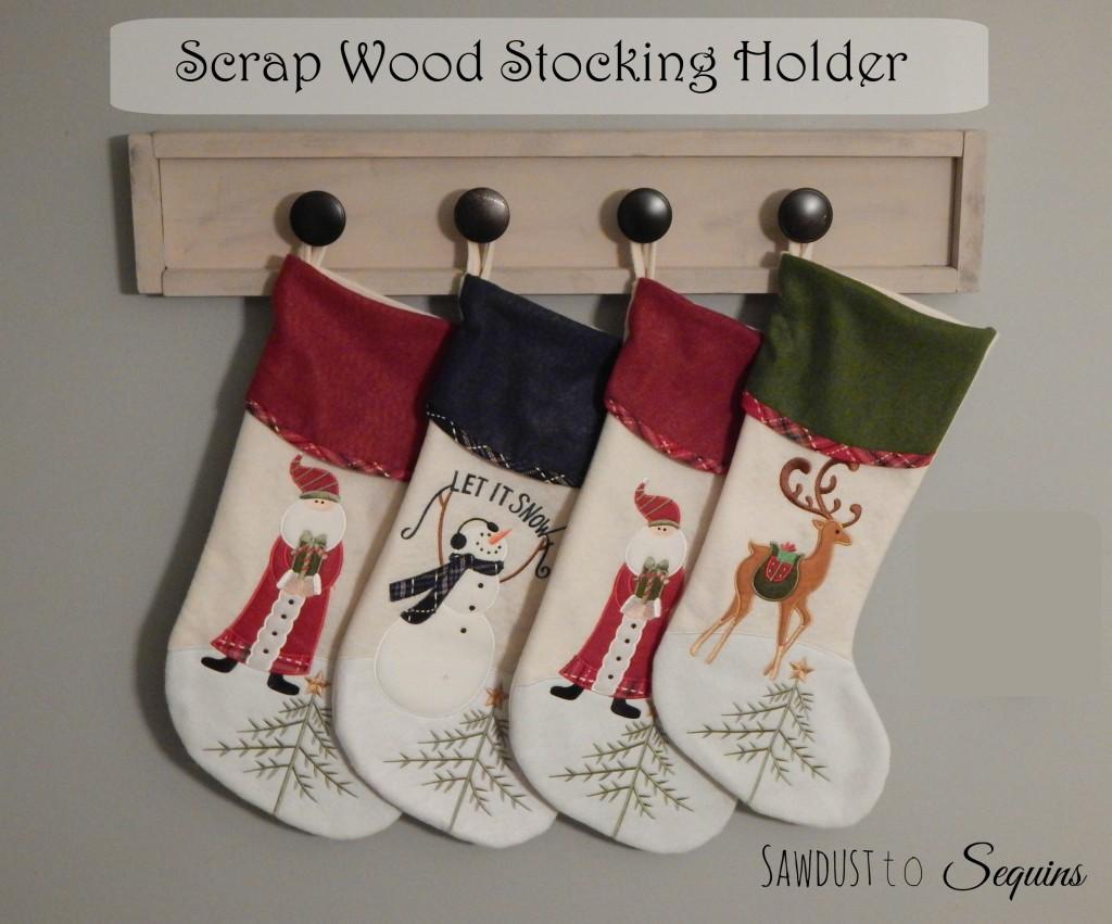 Scrap Wood Stocking Holder