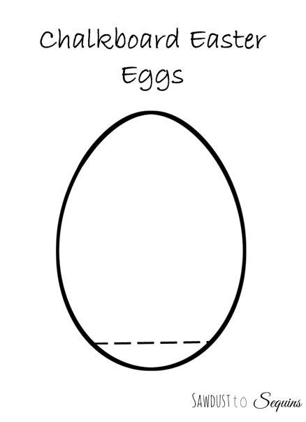 Chalkboard Easter Egg Printable