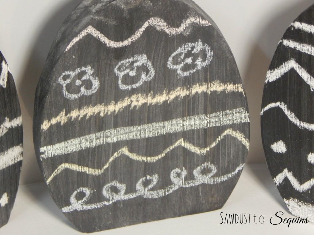 Colored Chalkboard Eggs