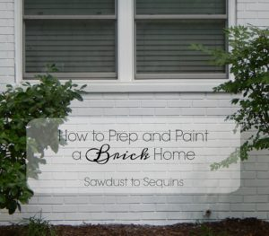 PAINT A BRICK HOME – HOW TO