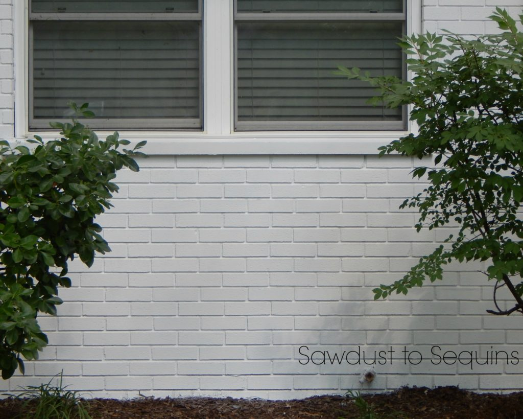Painted White Brick - Paint a Brick Home